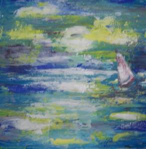 Open Seas painting with knife