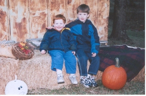 Caleb and Colin Fall 2006