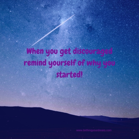 when you feel discouraged