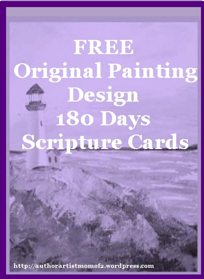 180 Day Scripture Cards Original Painting Design