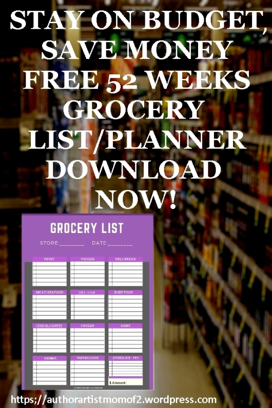 Pinterest Grocery List