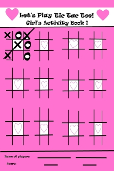 New Series for Boys and Girl Tic Tac Toe or Dots Activity Books!